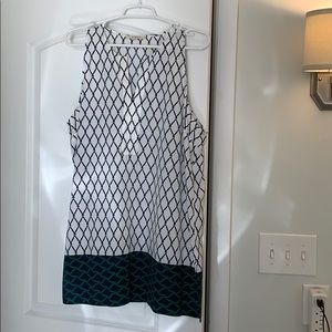 41 Hawthorn White and blue tunic - Large